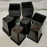 9cm Flower pots Square type 100 pots - reusable - Bulk Discounts available